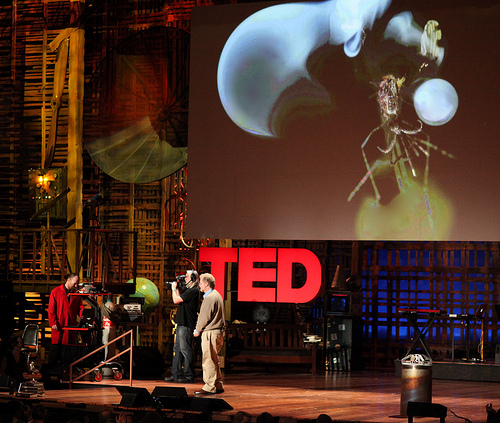Nathan Myhrvold on the TED talk stage