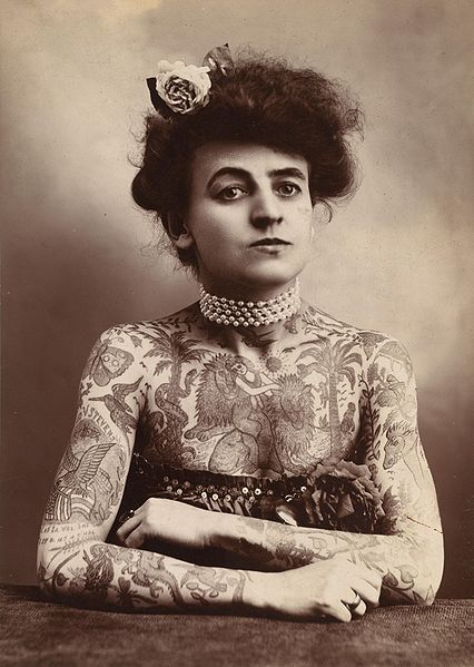 Covered tattoos women in Woman With