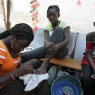 Makeshift Salons Open in Camp for Displaced Haitians