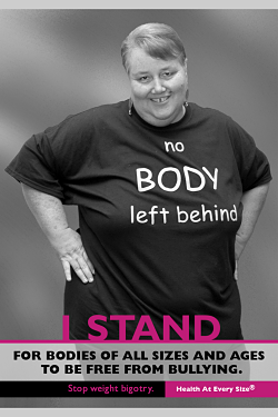 Photo from Stand4EveryBody anti fat shaming campaign