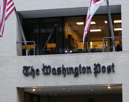 ID: Image of the front of the Washington Post offices