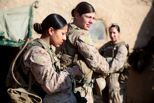 ID: A Marine Female Engagement Team in Afghanistan. women in combat