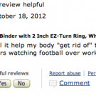 Binders Full of Amazon Reviews