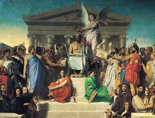 512px-Jean_Auguste_Dominique_Ingres,_Apotheosis_of_Homer,_1827