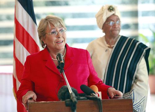 Michelle Bachelet, President Ellen Johnson Sirleaf