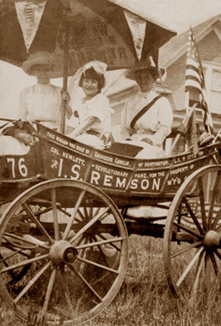 Today in Feminist History: All Aboard the Suffrage Wagon!