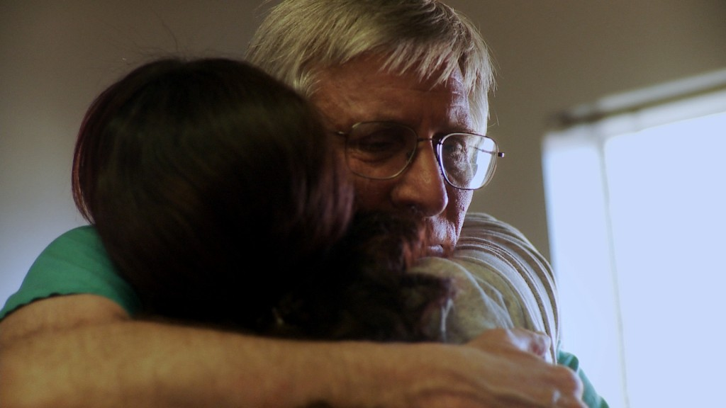 Late-term abortion doctor William Hern embraces a patient in 'After Tiller.'
