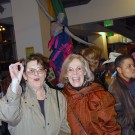 Bisexual activists Margo Rila, left, and Maggie Rubenstein in 2002.