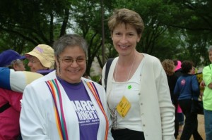 March codirector Alice Cohan (left) and Katherine Spillar, vice president of the Feminist Majority Foundation and executive editor of Ms.