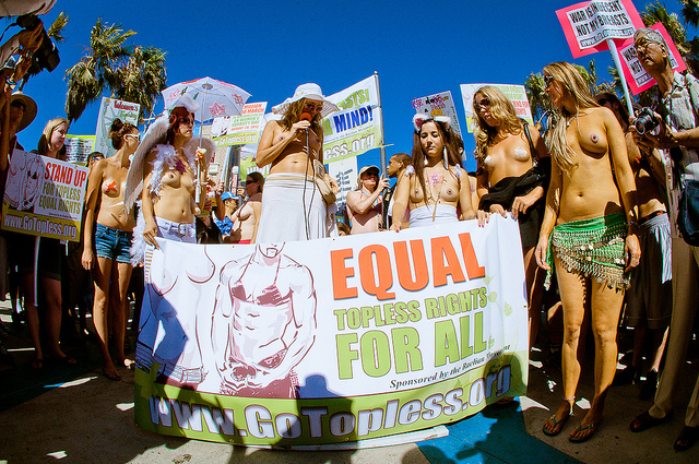 National Go Topless Day in Venice Beach