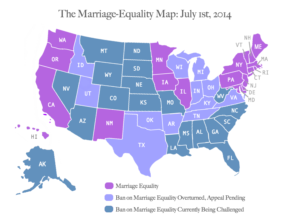 Marriage Equality Map