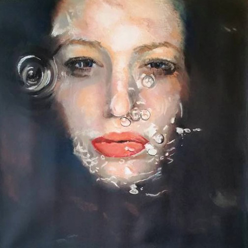 "J Howard, ""Drowning In Emotions"" via Gutfreund online gallery"