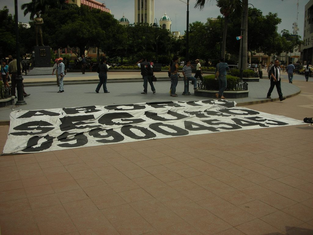 In 2008 Pro Choice Activists Staged A Demonstration In Machala Ecuador Holding Up A Sign In The City Square With A Hotline Number Connecting Women To