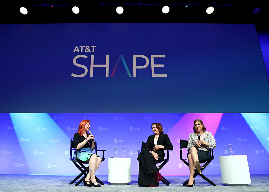Geena Davis, Mayim Bialik, and Erin Macdonald at ATT Shape 2019