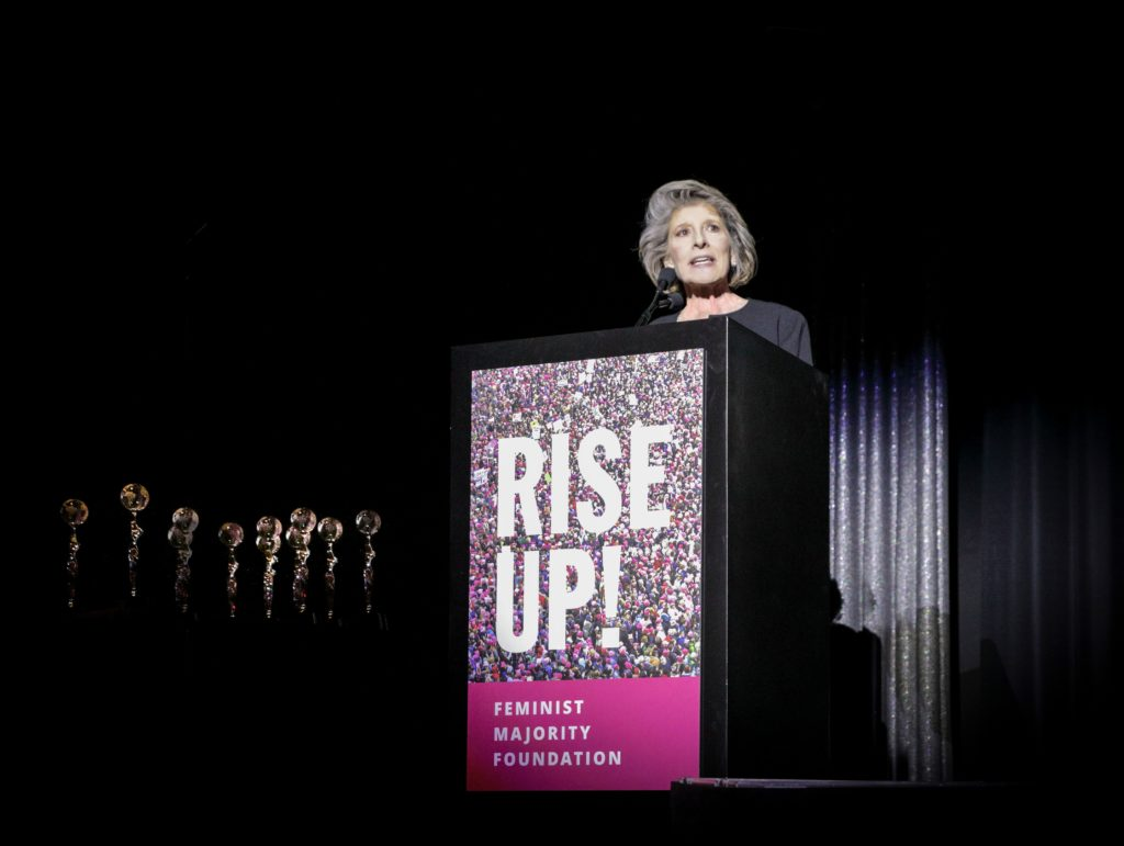 Katherine Spillar, Executive Director of the Feminist Majority Foundation and Executive Editor of Ms., speaking at the 14th annual Global Women's Rights Awards. (Dave Banks)