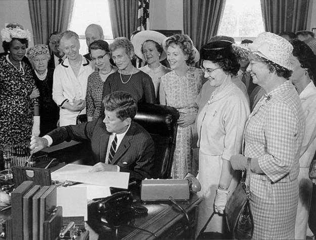 JFK signing the Equal Pay Act