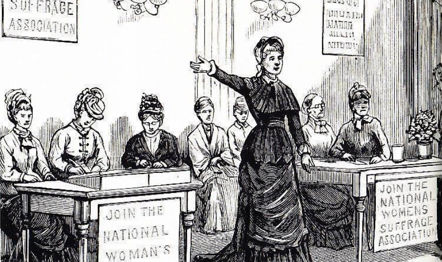 Today in Feminist History: Politicians Will NOT Stand in the Way of Equality for Women (May 25, 1877)