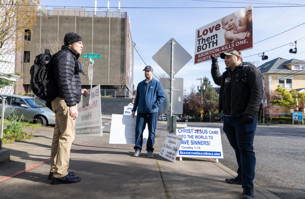 Portland Abortion Clinic Adapts to Recent Executive Order, One Group of Protestors Does Not