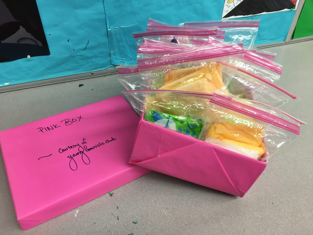 "Schools Implement ""Pink Box Project"" to Make Menstrual Products Available in Spite of Closures"