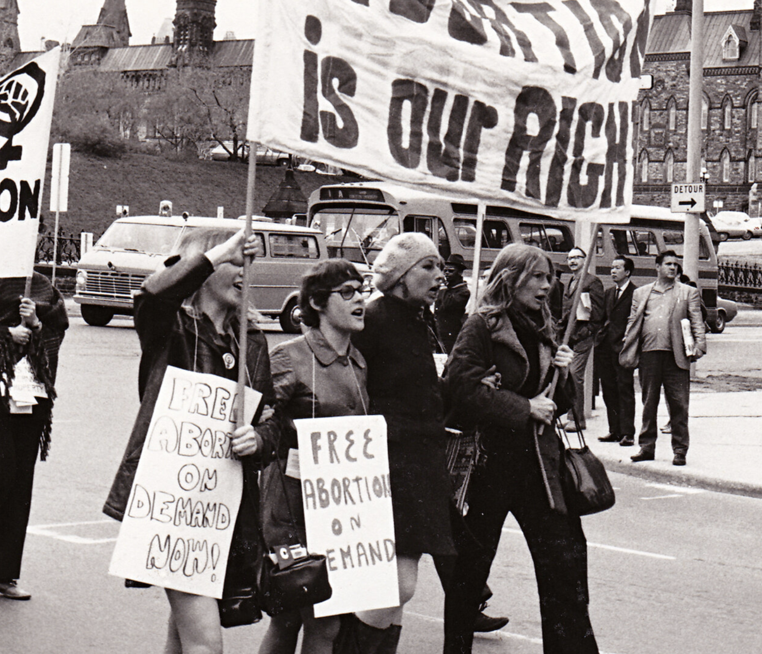 """In Protest of Anti-Choice Legislation, """"The Abortion Caravan"""" Shut Down Canadian Parliament 50 Years Ago"""