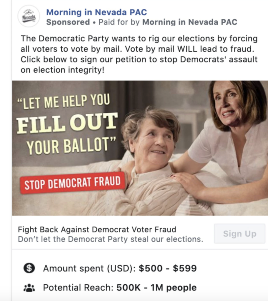 """""""Outright Lies"""": Voting Misinformation Flourishes on Facebook"""