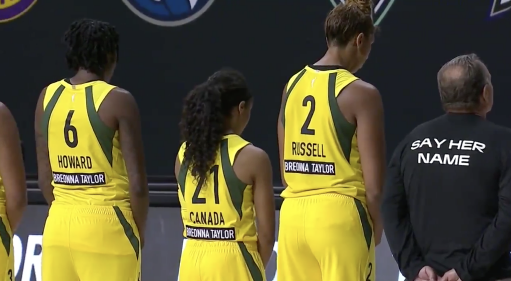 We Heart: WNBA Players Walk Off Court to Support Breonna Taylor and #SayHerName