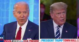 How Trump and Biden's Dueling Town Halls Addressed Women's Concerns