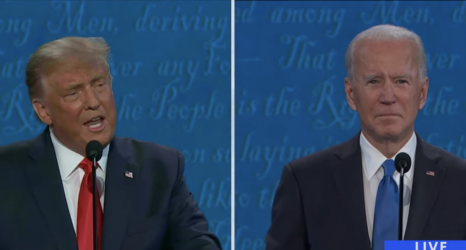 In the Last Presidential Debate, Trump and Biden Make Their Final Pitch To Women