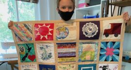 "Young Student Creates ""COVID Memorial Quilt"" to Honor Those Who Have Died"