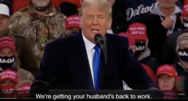 "The War on Women Report: Trump's Sexist Promise to Get ""Your Husbands Back to Work"""