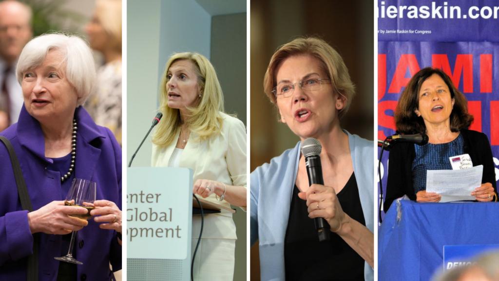 The Women Who Could Lead Biden's Economic Recovery: Janet Yellen; Lael Brainard; Elizabeth Warren; Sarah Bloom Raskin