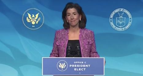 "As Commerce Secretary, Gov. Gina Raimondo Has ""a Vision for an Inclusive Recovery"""