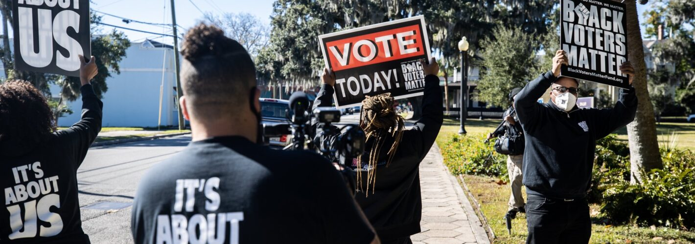 """""""Anti-Democratic and Racist"""": Nationwide Push for Voting Restrictions Barrels Forward"""