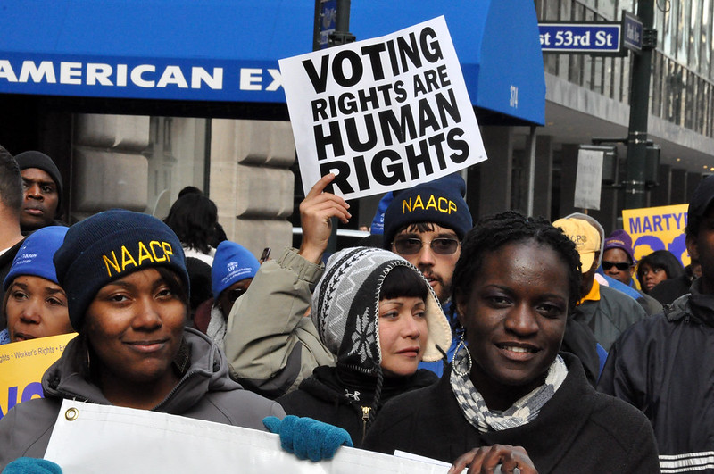"""""""If We Lose Voting Rights, We Lose Women's Rights"""": Linking Voter Suppression and Abortion Restrictions"""