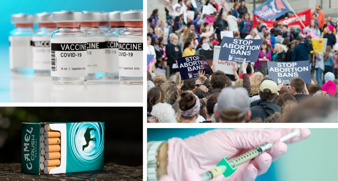 """The Weekly Pulse: 2021 """"Most Hostile"""" for Abortion; FDA Bans Menthol Cigarettes; Advocates Urge Biden to End Helms and Step Up Global Vaccination Campaign"""