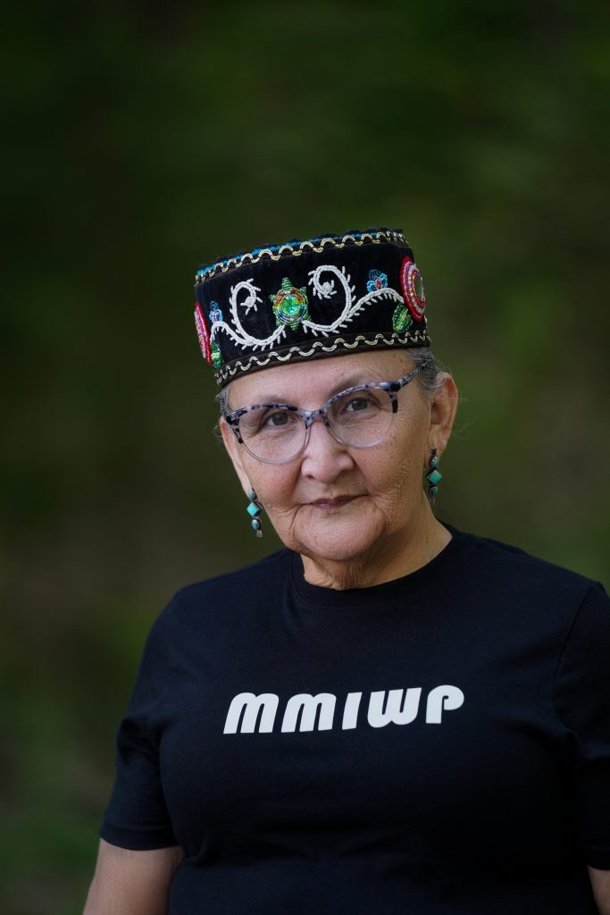 """""""This is Everything That We Have"""": Indigenous Women Lead the Movement to Stop Line 3 Great-Grandmother Mary Lyons (Leech Lake band of Ojibwe) Owner of Wisdom Lessons, Grandmothers of the Sacred We, and Global Indigenous Wisdom Keepers."""