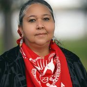 """""""This is Everything That We Have"""": Indigenous Women Lead the Movement to Stop Line 3 Gaagigeyaashiik - Dawn Goodwin (White Earth Band of Ojibwe) Co-founder of RISE coalition, representative of Indigenous Environmental Network, host of the Wild Rice Protector Camp."""