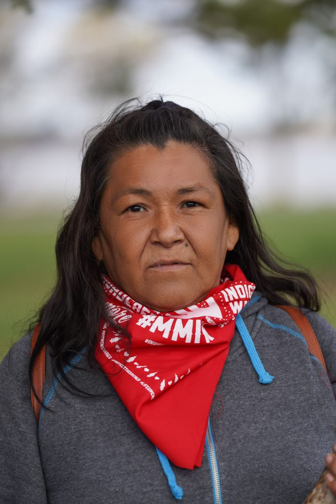 """""""This is Everything That We Have"""": Indigenous Women Lead the Movement to Stop Line 3 Biidwewegiizhagookwe - Tania Aubid (Mille Lacs Band of Ojibwe) Water Protector Welcome Center."""