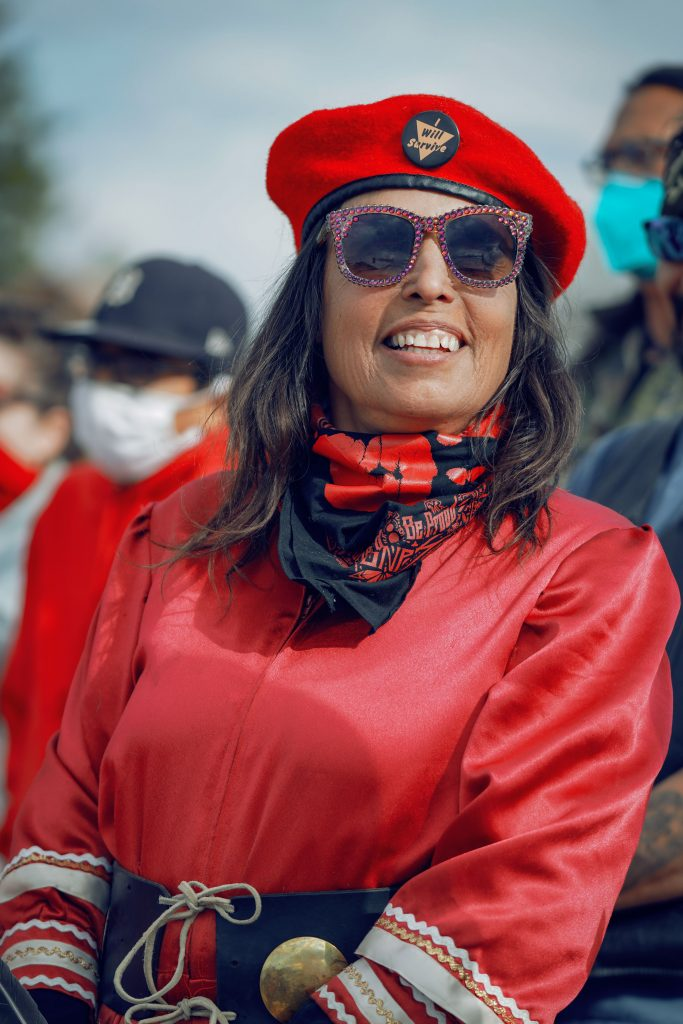 """""""This is Everything That We Have"""": Indigenous Women Lead the Movement to Stop Line 3 Binesekwe - Winona LaDuke (Bear Clan from Round Lake on the White Earth Reservation) Executive director of Honor the Earth."""