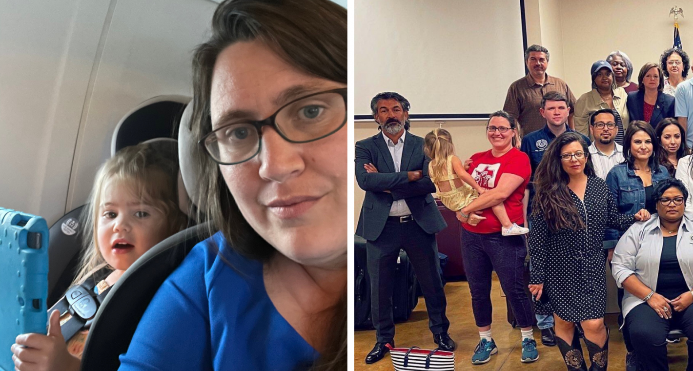 From Texas to D.C. A Legislator—and her Child— Fight for Voting Rights