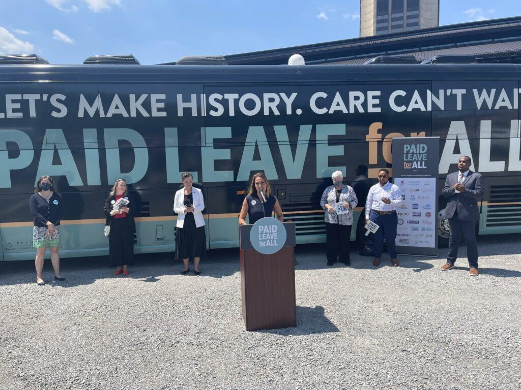 paid-leave-bus-tour-biden-congress-infrastructure