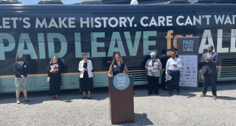 Weeks-Long National Bus Tour Urges Paid Family and Medical Leave for All