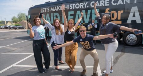 Nationwide Paid Leave For All Bus Tour Culminates as Democrats Prepare to Expand Social Safety Net