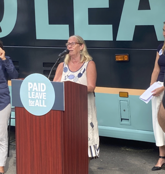 paid-leave-bus-tour-democrats-budget-infrastructure-social-safety-net